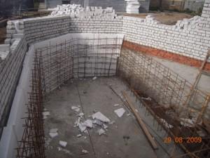 подготовка к строительству бассейнов