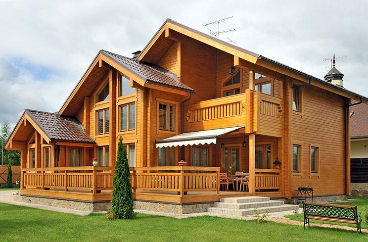 Строительство из дерева в Нижнем Новгороде.