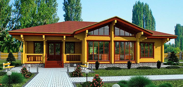 Дом из профилированного бруса в Нижнем Новгороде