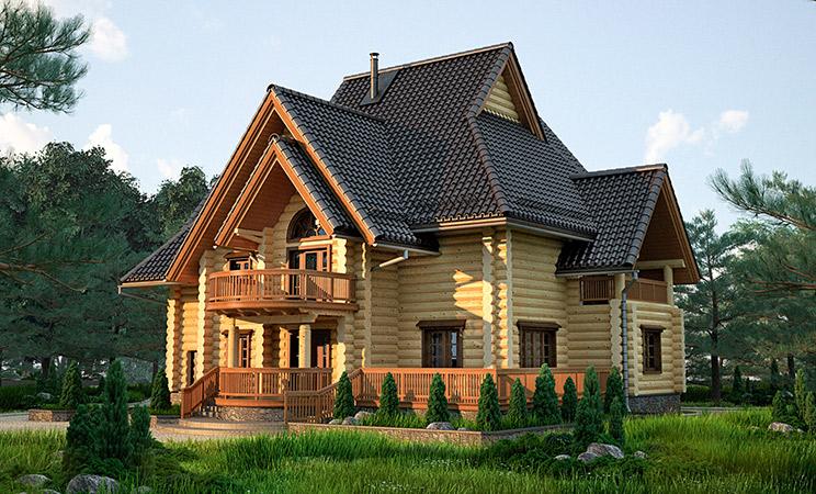 Срубы домов и бань в Нижнем Новгороде